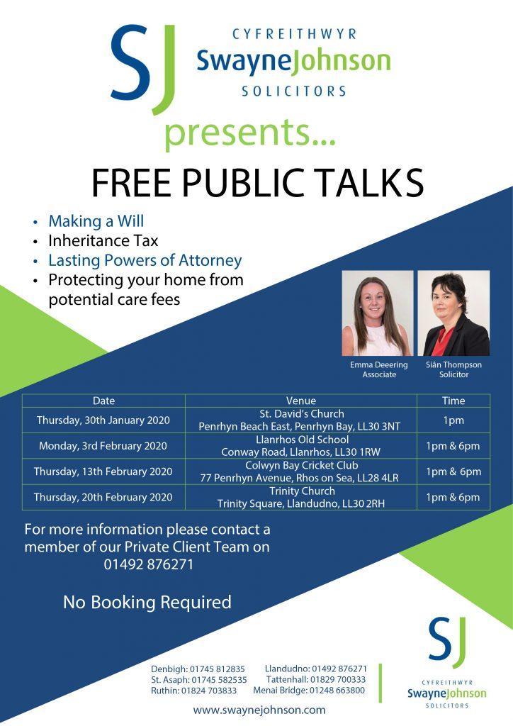 free public talks
